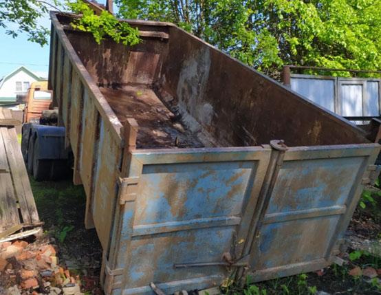 услуги вывоза мусора 27 м3 кубов
