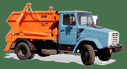 вывоз мусора контейнером 8 кубов на базе грузовика ЗИЛ